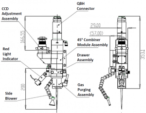 High Power Laser Welding Head Diagram